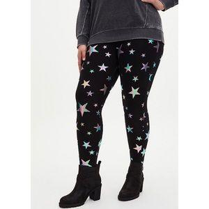 🆕🌟 Torrid Rainbow Star Foil Legging 1X 14 16 NWT